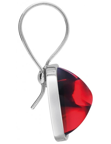 Baccarat Medicis Earrings Ears Filargent Red Crystal Mirror