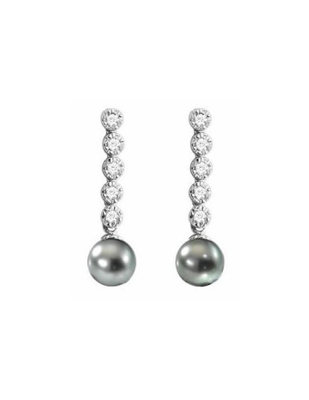 Négoce Îles - Tahitian Pearls - Earrings